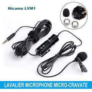 HAUT-PARLEUR - MICRO Nicama LVM1 Lavalier Microphone Micro-cravate omni