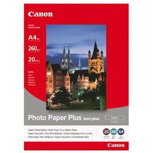 CARTOUCHE IMPRIMANTE CANON Pack de 1  Papier photo inkjet semi-brillant