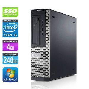 UNITÉ CENTRALE  Pc de bureau Dell 390 DT- i5 - 4 Go - SSD 240Go -