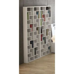 biblioth que design labyrinthe blanche asym trique achat. Black Bedroom Furniture Sets. Home Design Ideas