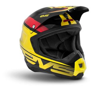 CASQUE MOTO SCOOTER Casque cross EVS T5 VAPOR noir jaune rouge