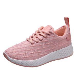 légères marche chaussures de occasionnelles air respirant chaussures course plein Espadrilles maille en Rose 80wPnOk