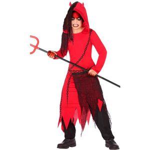 Enfant Petit Diable Halloween Fille Devils Fancy Dress Costume Neuf Âge 5-13