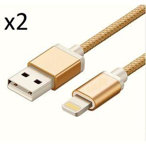 CHARGEUR TÉLÉPHONE OEM - Pack de 2 Cables Metal Nylon pour Écouteurs