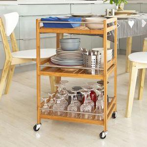 CHARIOT - DESSERTE SoBuy® FKW11-N Table roulante Desserte de cuisine