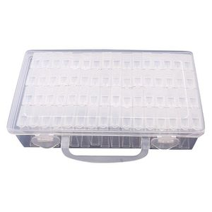 BOITE A BIJOUX 64 Treillis Réglable en Plastique Boîte de Rangeme