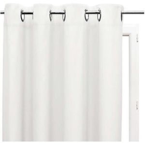 RIDEAU Rideau uni à oeillets 135x180 cm ALIX blanc