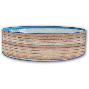 PISCINE PINUS Piscine ronde en acier 350x90cm