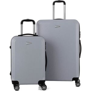 SET DE VALISES TRAVEL WORLD Ensemble de 2 Valises 55/75cm Argent