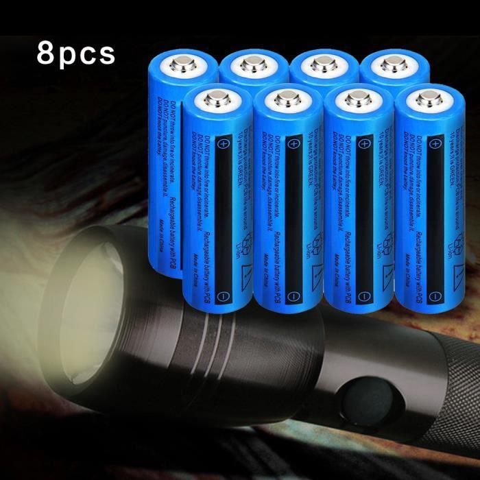 Batterie rechargeable au lithium-ion 18650 5000AMH 3.7V dessus de bouton pour LED Flashligh Mishuowoti242