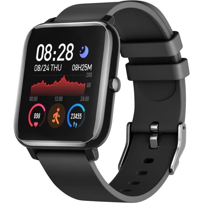Montres Connectées, IDEALROYAL Montre Intelligente avec Moniteur de Fréquence Cardiaque, Moniteur de Sommeil Smartwatch,Tracker Acti