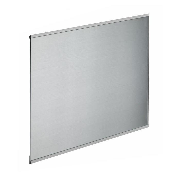 Fond de hotte en verre de 5mm d'épaisseur style inox - 60x70cm
