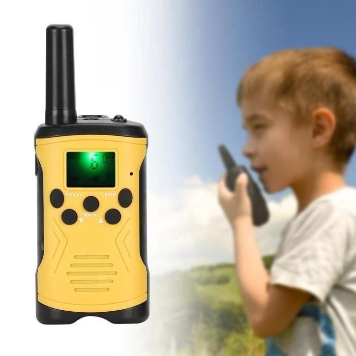 T50 2PCS Walkie-Talkie pour enfants Interphone extérieur Talkie-walkie Toy 3KM(jaune) LBQ26