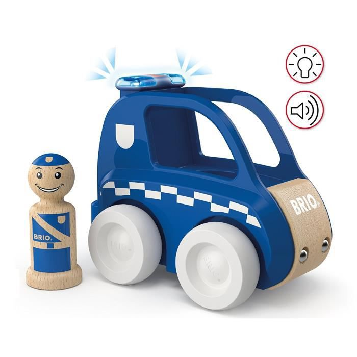 BRIO - My Home Town - Voiture De Police Son Et Lumiere