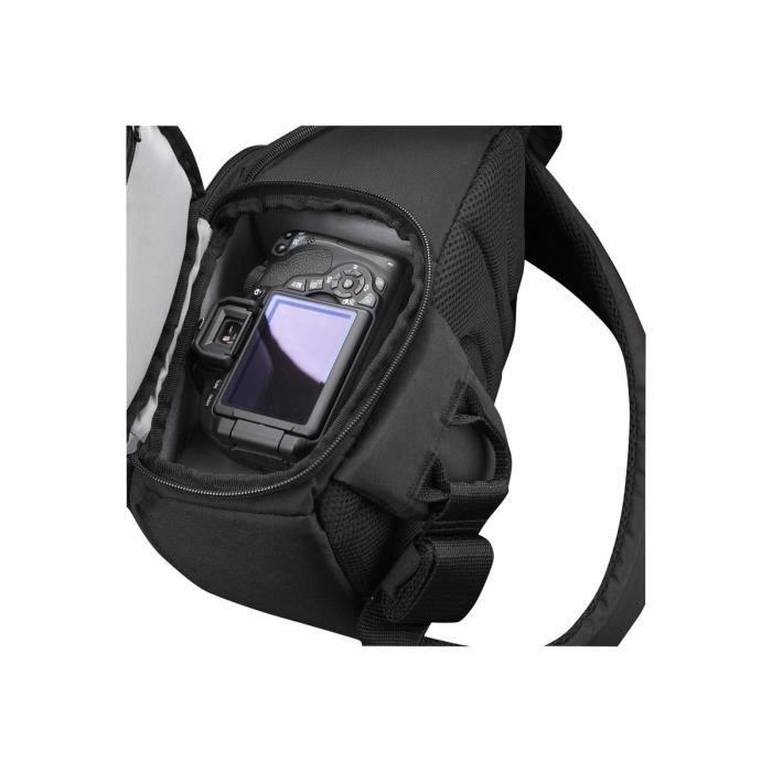 Case Logic DSLR Camera Sling Sac-ceinture pour appareil photo et objectifs nylon tissé noir