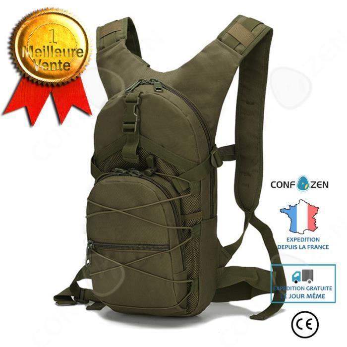 CONFO® Sac de vélo, camouflage, tissu Oxford imperméable, petit sac, sports de plein air, sac à dos tactique portable, système MOLLE