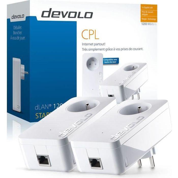 DEVOLO CPL filaire 1200 Mbit /s- Modèle 9377 dLAN 1200+