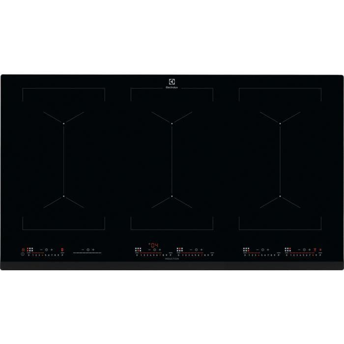 Electrolux EIV9467, Intégré, Plaque avec zone à induction, Verre, Noir, 3200 W, Rectangulaire