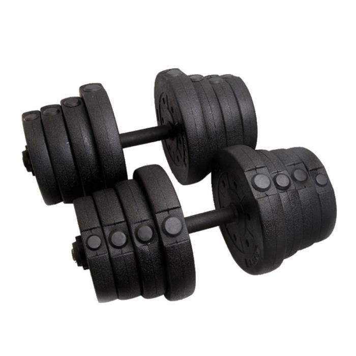 22 PCS PE Matériel Poids Haltère Vide Shell Set Réglable Cap Gym Barbell Plaques pour Body Workout