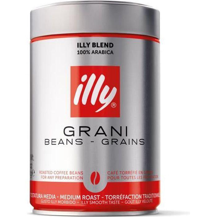 ILLY Café 100 % Arabica décafeiné - Grains classique - 250 g