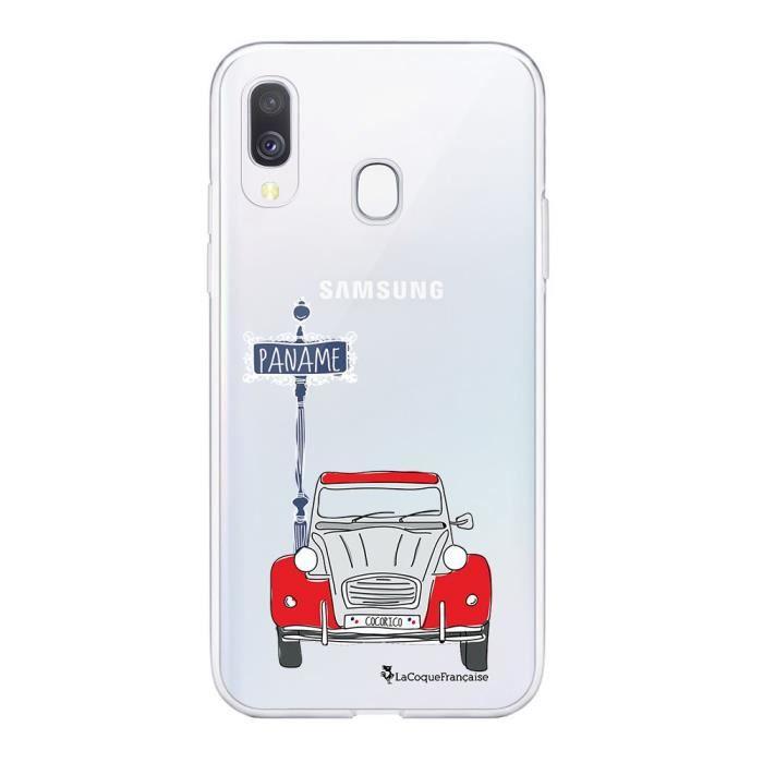 Coque pour Samsung Galaxy A20e souple transparente 2CV cocorico blanc Motif Ecriture Tendance La Coque Francaise
