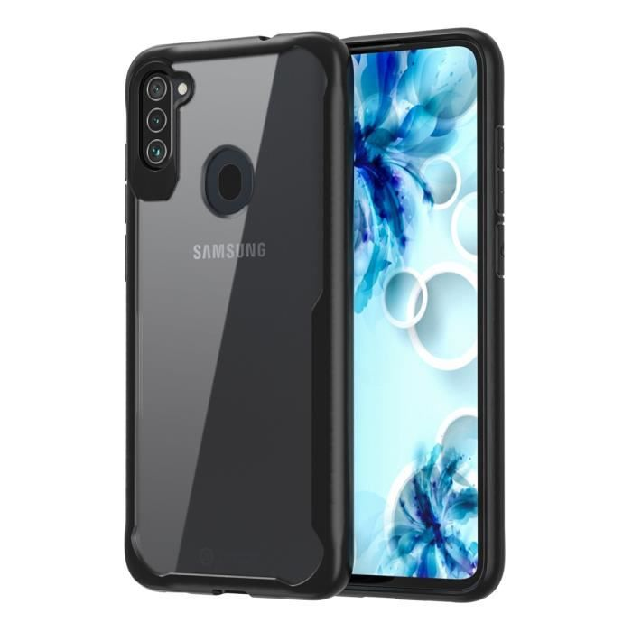 Coque pour Samsung Galaxy A11 Coque de Protection Antichoc en TPU Dur Transparent pour Samsung Galaxy A11 - Noir