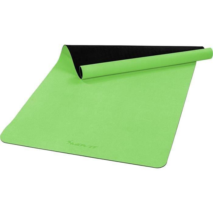 MOVIT Tapis de gymnastique XXL TPE, tapis de pilates, tapis d'exercice premium, tapis de yoga, 190 x 100 x 0,6 cm, vert clair