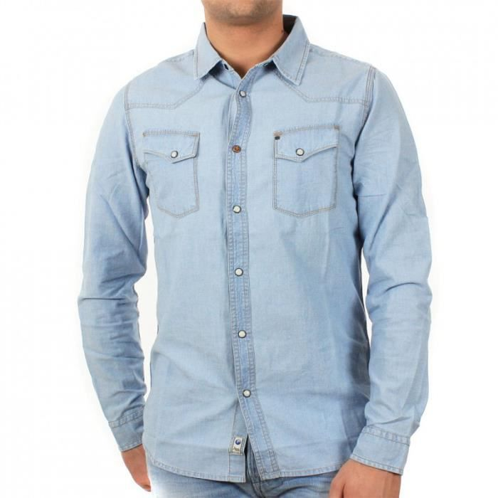 Chemise JAPAN RAGS Romeo Blue Denim