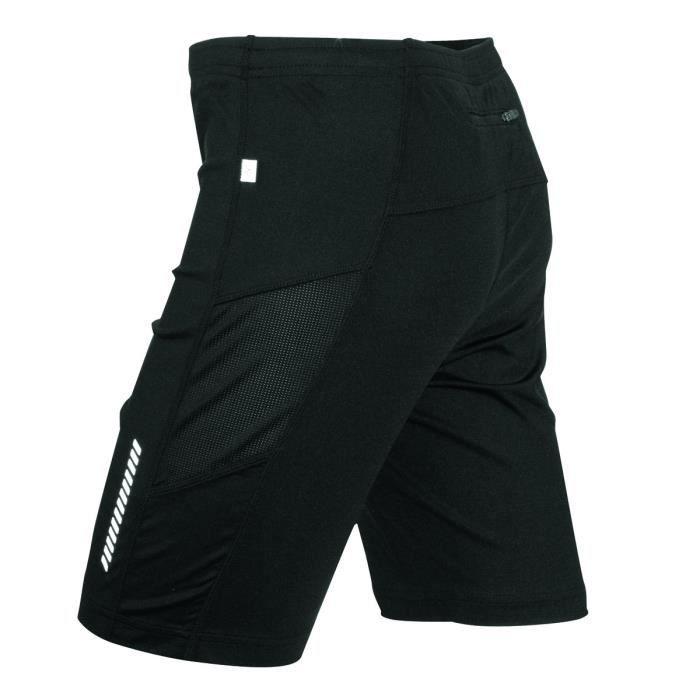 Short cuissard respirant homme - JN302 - noir - jogging running course