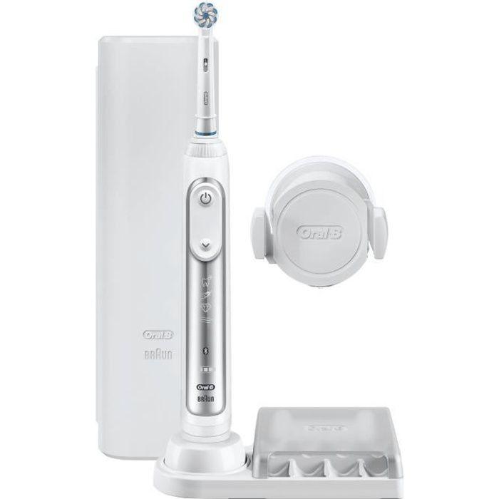 ORAL B Brosse à dents électrique Genius 8000 - Argenté