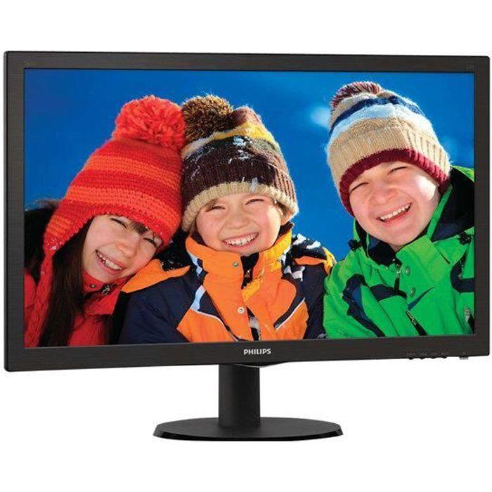 Ecran PC - PHILIPS V-line 243V5LHSB - 23,6- FHD - 5ms - VGA / HDMI / DVI-D