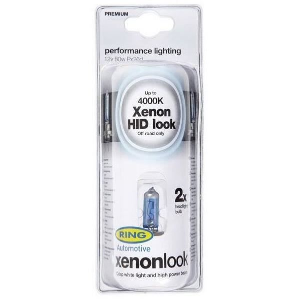 2 ampoules H7 XENON LOOK 12v 80w RING