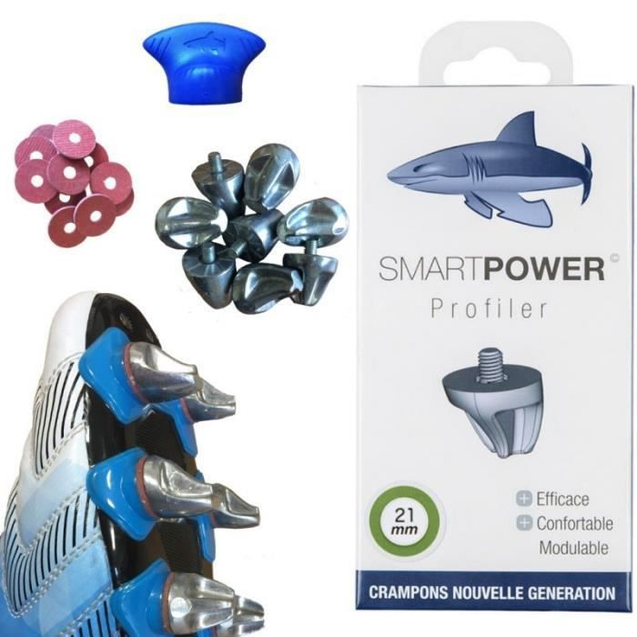 SMART POWER 16 Crampons Haute Performance Rugby 21 mm Aluminium