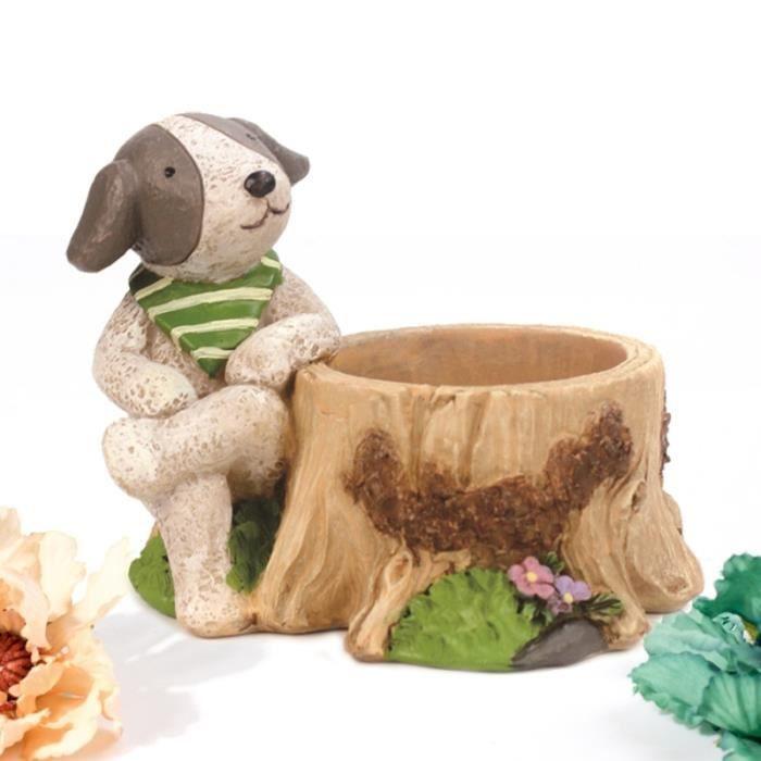 Dessin animé chien Pots de fleurs chambre d'enfants décor de bureau en pot de créatif décoration de la JARDINIERE - BAC A FLEUR