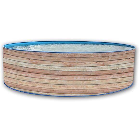PINUS Piscine ronde en acier 350x90cm