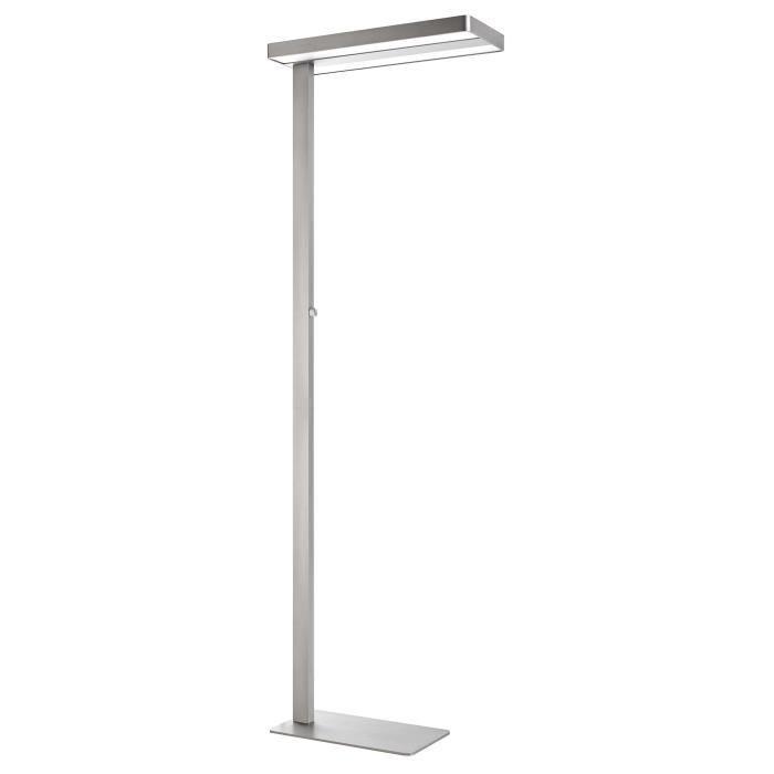 Unilux Lixus Lampadaire LED 50W 5000 Lumens Éclairage direct et indirect et Variation d'intensité Lumineuse rotatif sur le mât 195