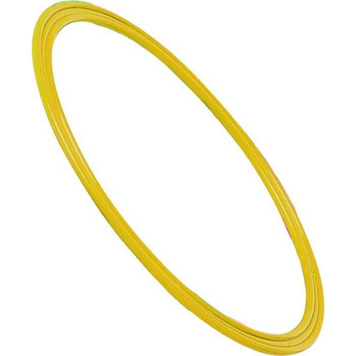 Cerceau plat 35 cm en polypropylène jaune