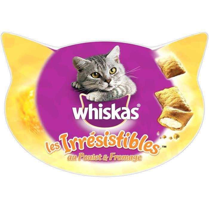 WHISKAS Les Irrésistibles Friandises - Au poulet et fromage - Pour chat - 105 g