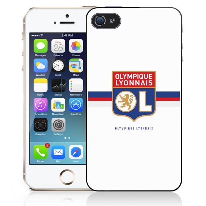 Coque iPhone 5-5S-SE - OL Olympique Lyonnais logo