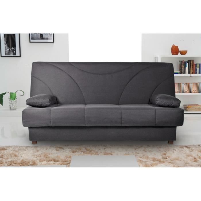 banquette clic clac meribel tissu gris achat vente clic clac tissu multiplis h tre cdiscount. Black Bedroom Furniture Sets. Home Design Ideas