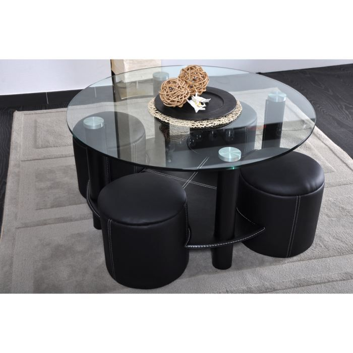 table basse 4 poufs casalto achat vente table basse table basse 4 poufs casalto soldes. Black Bedroom Furniture Sets. Home Design Ideas