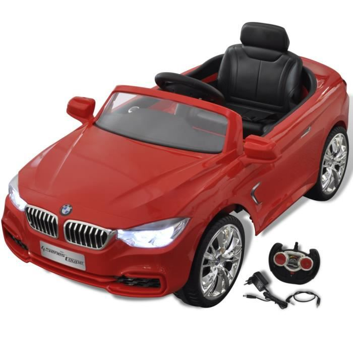 bmw voiture enfant lectrique avec t l commande rouge. Black Bedroom Furniture Sets. Home Design Ideas