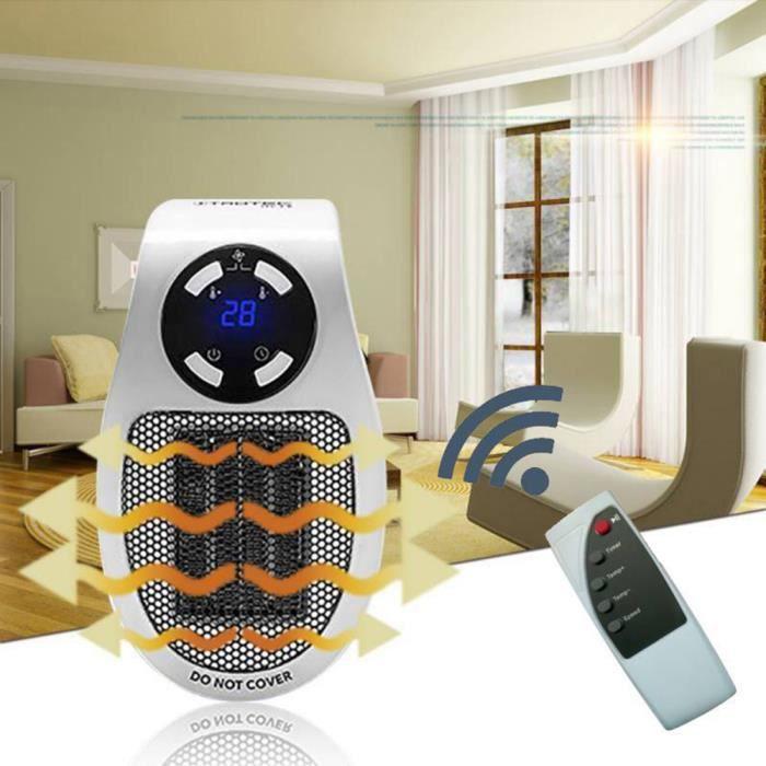 Radiateur Electrique 500w Chauffage Air Soufflant Ventilateur