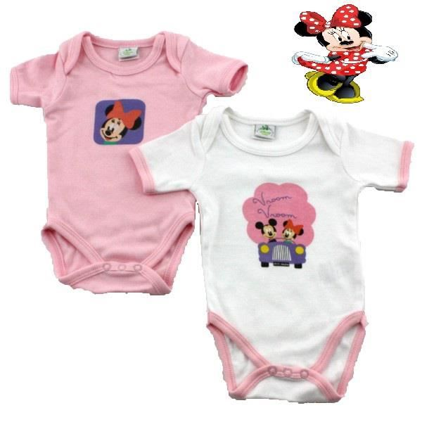 BODY Lot de 2 bodies bébé filles Minnie Mouse de Disney