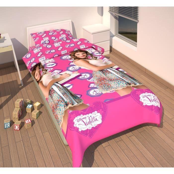 HOUSSE DE COUETTE SEULE Parure de lit Violetta Disney