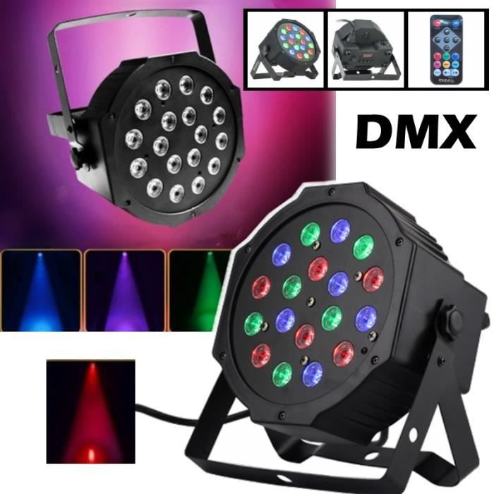 jeux de lumiere projecteur parled18x1w dmx rgb. Black Bedroom Furniture Sets. Home Design Ideas