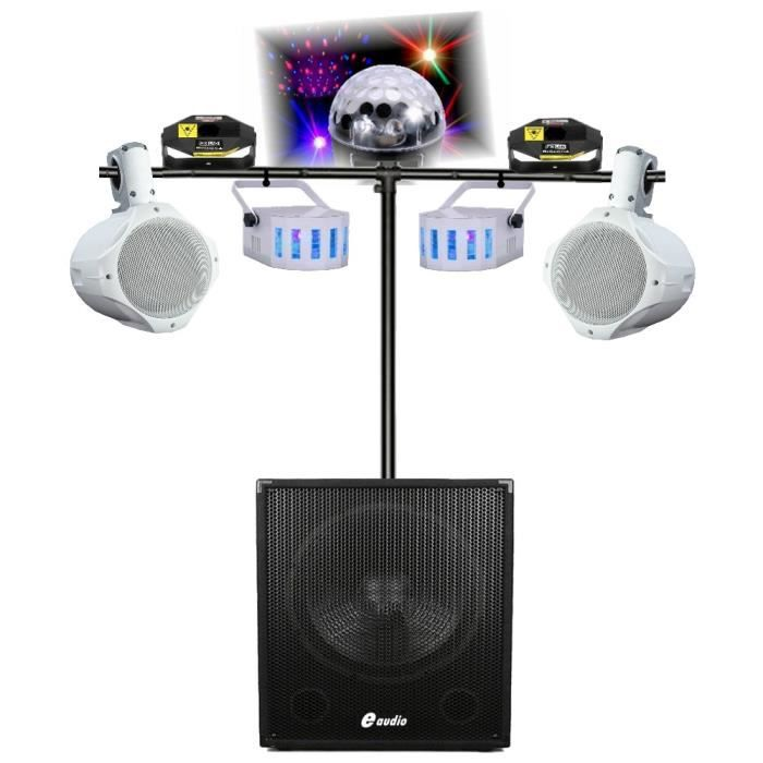 5 jeux de lumi re sono amplifi 1320w avec caisson. Black Bedroom Furniture Sets. Home Design Ideas