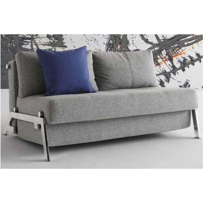 Canap lit design cubed gris convertible 200 140 achat for Canape lit design