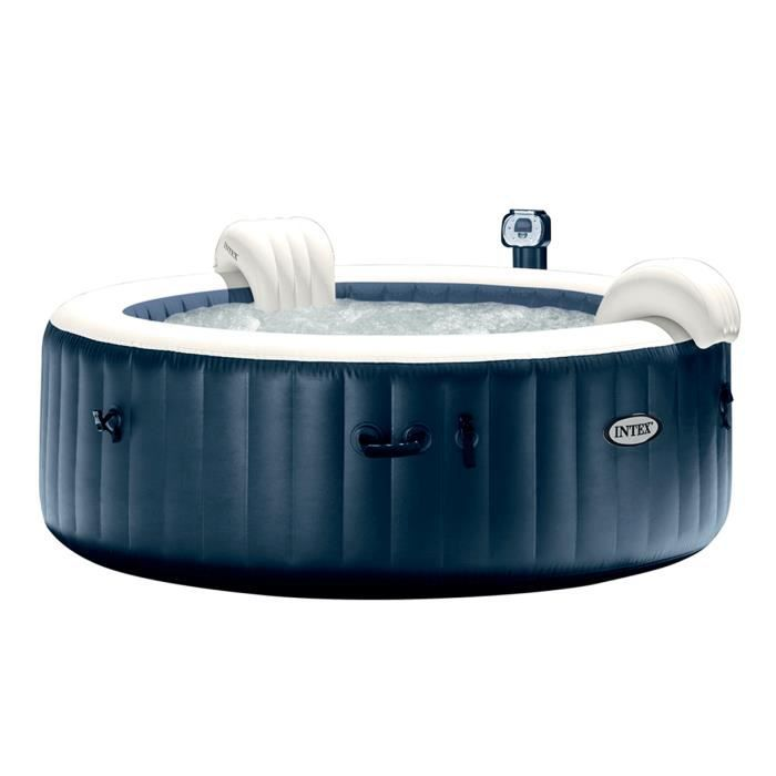 spa gonflable intex purespa rond bulles 4 places bleu nuit achat vente spa complet kit spa. Black Bedroom Furniture Sets. Home Design Ideas