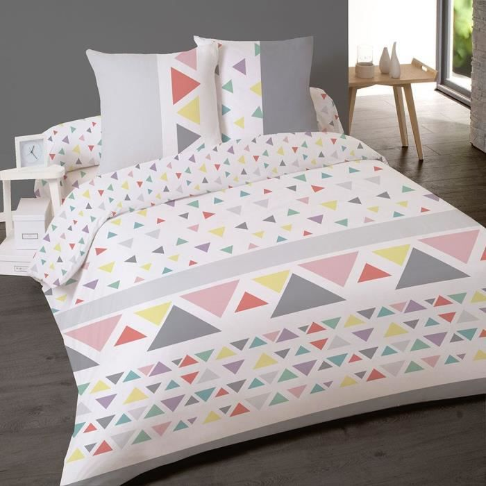 housse couette 200x200 2 taies stockholm achat vente parure de couette cdiscount. Black Bedroom Furniture Sets. Home Design Ideas